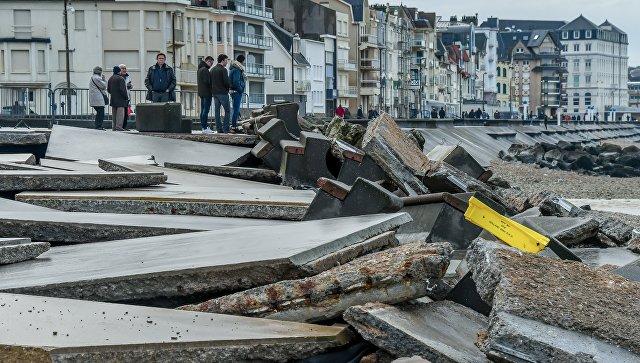 Последствия урагана Элеанор во Франции. 6 января 2017