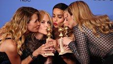 Большая маленькая ложь, ставшая ранее триумфатором телепремии Эмми, выиграла и Золотой глобус в номинации Лучший минисериал.
