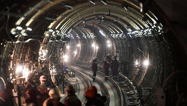 Тоннель строящейся станции московского метро