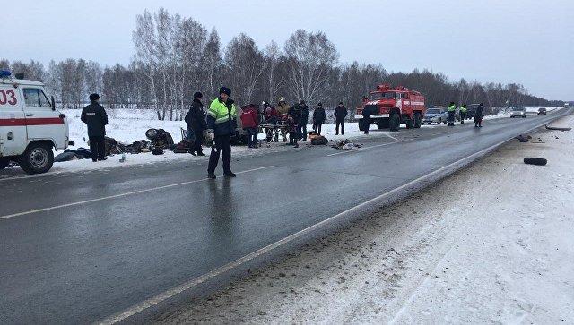 ДТП в Черепановском районе Новосибирской области. 11 января 2018