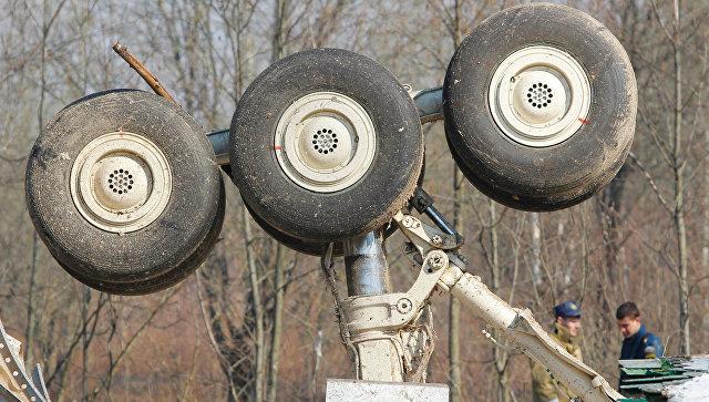 На месте авиакатастрофы под Смоленском.