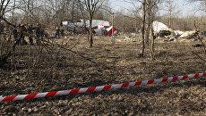 Место падения польского самолета Ту-154