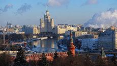 Вид зимней Москвы. Архивное фото