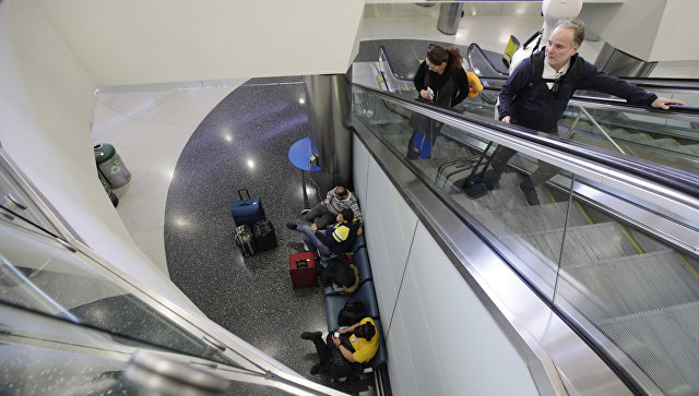 В международном аэропорту Ньюарк, США. Архивное фото