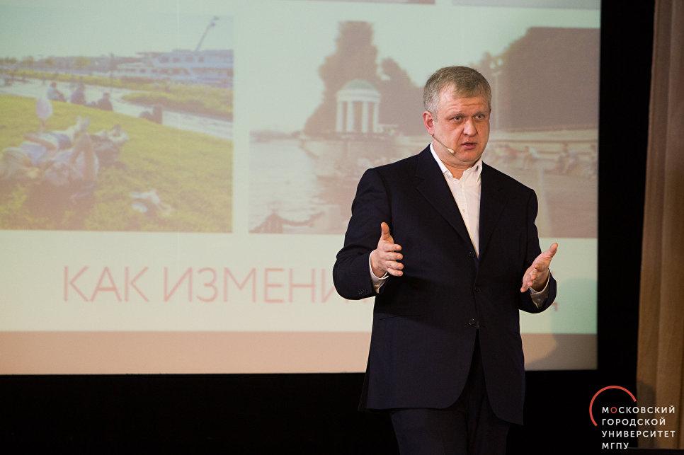 Сергей Капков на лекции проекта Пластилин МГПУ