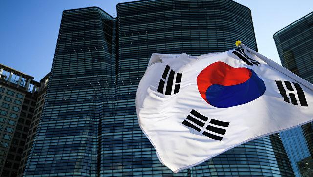 Флаг Республики Корея. Архивное фото