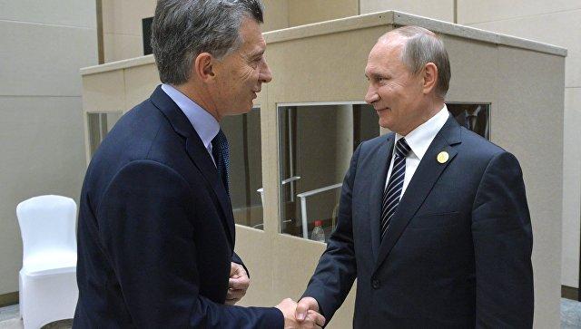 Путин рассказал, как прошли переговоры с аргентинским коллегой