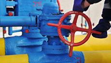 Вентиль на трубопроводе газораспределительной станции Нежухив в Стрыйском районе Львовской области. Архивное фото