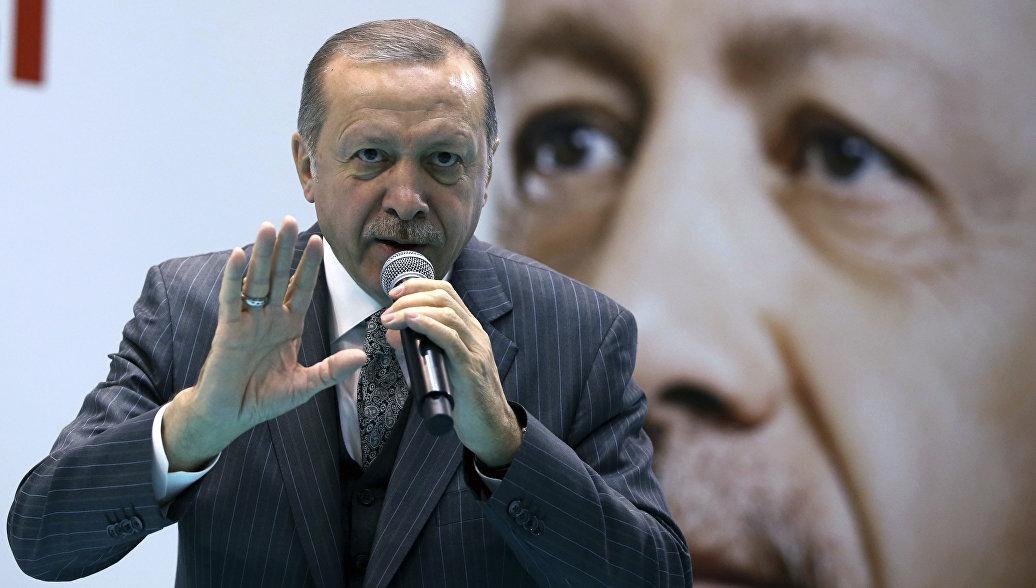 """Эрдоган призвал США прекратить в Сирии """"театр с ИГ* и снять маски"""" - РИА Новости, 13.02.2018"""