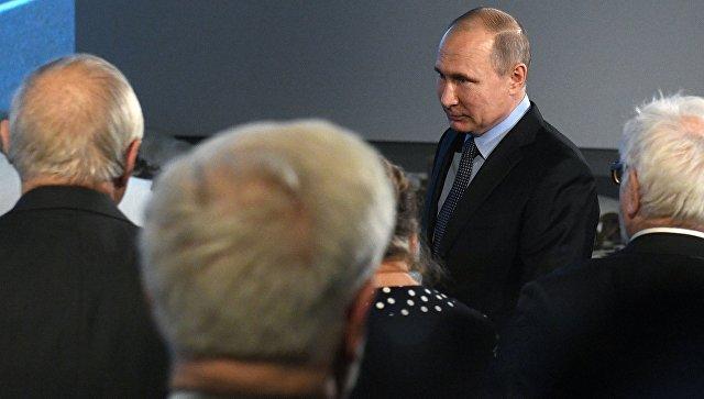 Президент РФ Владимир Путин во время мероприятий в Еврейском музее и центре толерантности. 29 января 2018