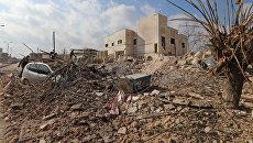 Разрушенная в результате авиаударов больница в провинции Идлиб. Архивное фото