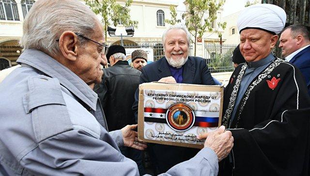 Доставка гуманитарной помощи от религиозных общин России в Сирию
