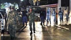 Военные на главной улице города Мале, Мальдивские Острова. Архивное фото