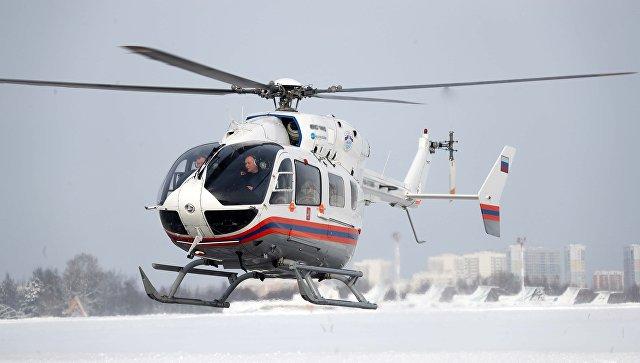 Вертолет эвакуировал пострадавшего при пожаре на северо-востоке Москвы