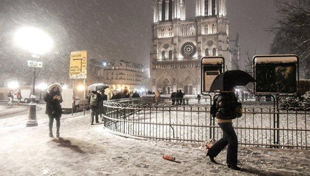 Во Франции три человека замерзли насмерть из-за сильных холодов