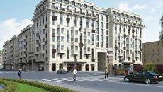 Визуализация проекта ЖК на Тележной улице 17-19