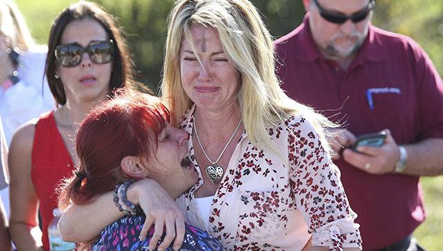 Стрельба в школе в городе Паркленд, штат Флорида. Архивное фото