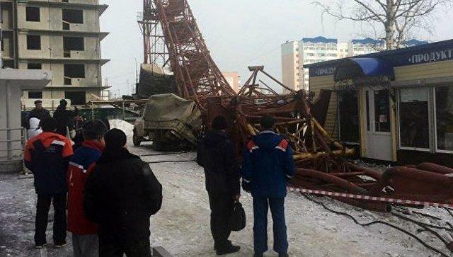 ВДобрянке проводят проверку пофакту падения башенного крана