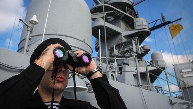 Военнослужащий во время итоговых учений корабельных группировок Каспийской флотилии. Архивное фото