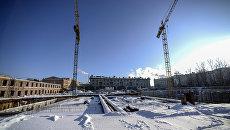 Строительство новой сцены Академического Малого драматического театра в Санкт-Петербурге