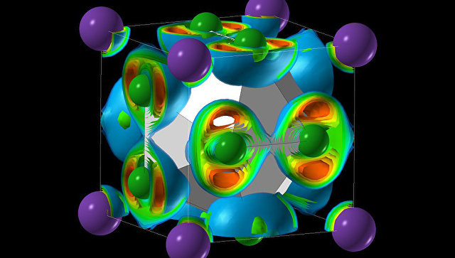 Компьютерная модель молекулы невозможной соли NaCl3