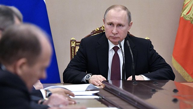 Владимир Путин провел беседу с членами Совбеза РФ