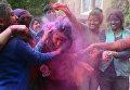 Фестиваль красок Холи в Амритсаре
