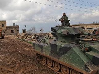 Турецкие танки и вертолеты продвигаются в Африне. Архивное фото