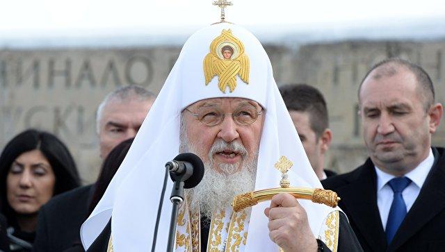 Патриарх Кирилл помолился обосвободителях Болгарии нагоре Шипка