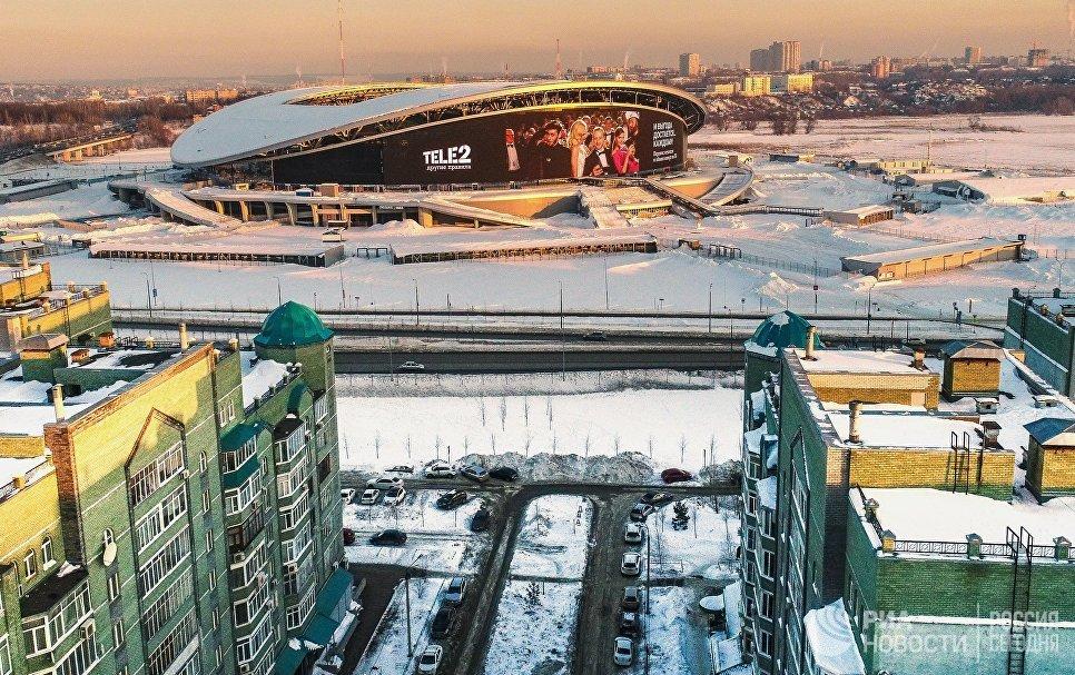 Вид на стадион Казань Арена.