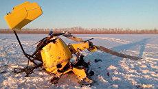 Легкомоторный вертолёт упал в Новосибирской области. 11 марта 2018