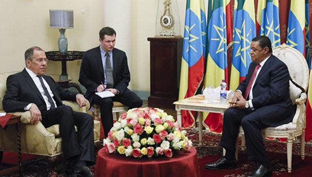 Встреча Министра иностранных дел России Сергея Лаврова с Президентом Эфиопии Мулату Тешоме Вирту, Аддис-Абеба. 9 марта 2018