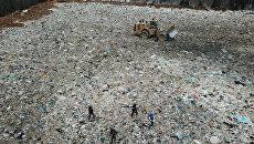 Полигон твердых бытовых отходов Ядрово в Московской области. Архивное фото