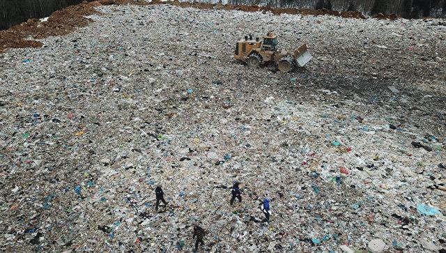 Полигон твердых бытовых отходов Ядрово в Московской области