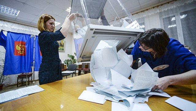 Подсчет голосов на выборах президента РФ в Ленинградской области