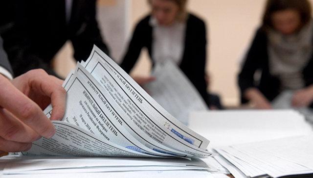 Подсчет голосов на выборах президента РФ