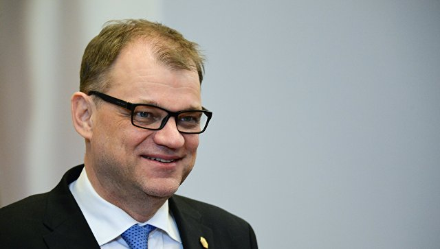 Премьер-министр Финляндии Юха Сипиля на саммите ЕС в Брюсселе. 23 марта 2018
