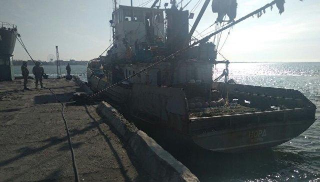 Задержанное в украинской части территориальных вод Азовского моря рыболовецкое судно Норд. Архивное фото