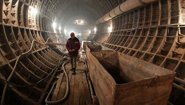 Строительство станции метро
