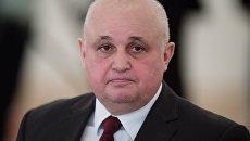 Временно исполняющий обязанности губернатора Кемеровской области Сергей Цивилев на заседании Государственного совета. 5 апреля 2018