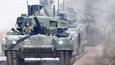 Танк Т-14 Армата во время репетиции Парада Победы. Архивное фото