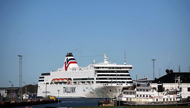 Вид на гавань Таллина, Эстония. Архивное фото