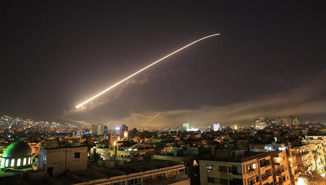 Зенитный огонь над Дамаском, Сирия. Архивное фото