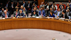 На заседании Совета Безопасности ООН в Нью-Йорке. 14 апреля 2018