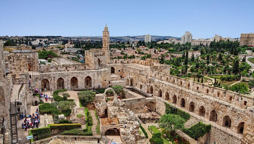 Панорамный вид на музей Башня Давида в Иерусалиме. Архивное фото