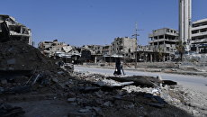Пригород Дамаска Дума после освобождения от боевиков. Архивное фото