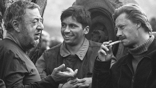 Съемки фильма Братство, реж. П. Лунгин