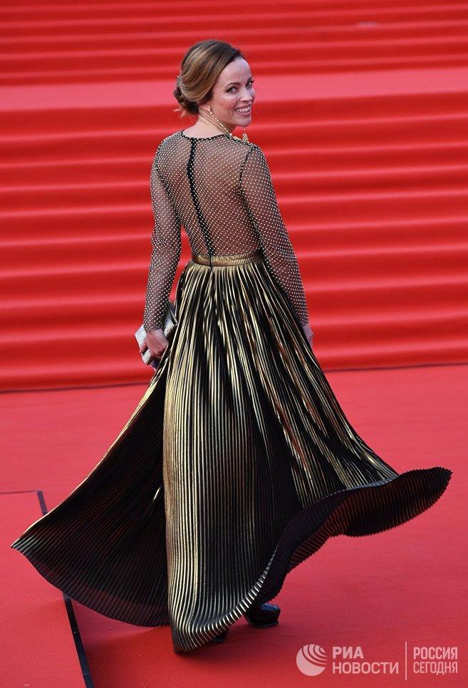 Актриса Ольга Зайцева на церемонии открытия 40-го Московского международного кинофестиваля (ММКФ)