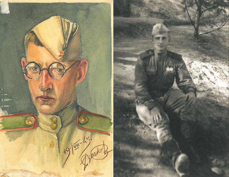 Светозар Русаков на фронте.