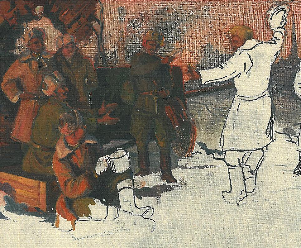Фронтовой рисунок Светозара Русакова.